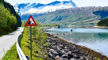 Rasfare på ferde på Sandhørnøya i Gildeskål