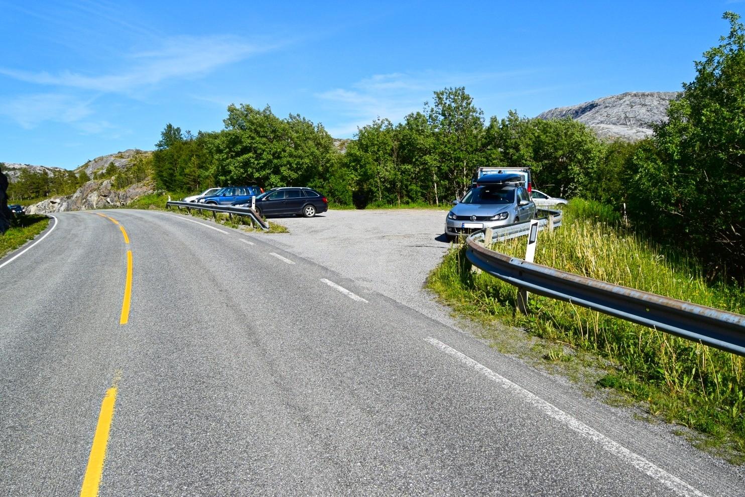 Startpunkt for turen til Øvre Åselivatnet