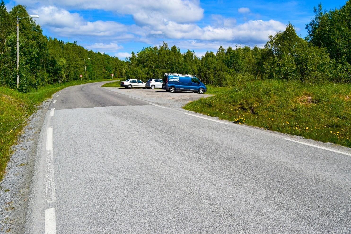 Parkeringsplassen ved Futelva