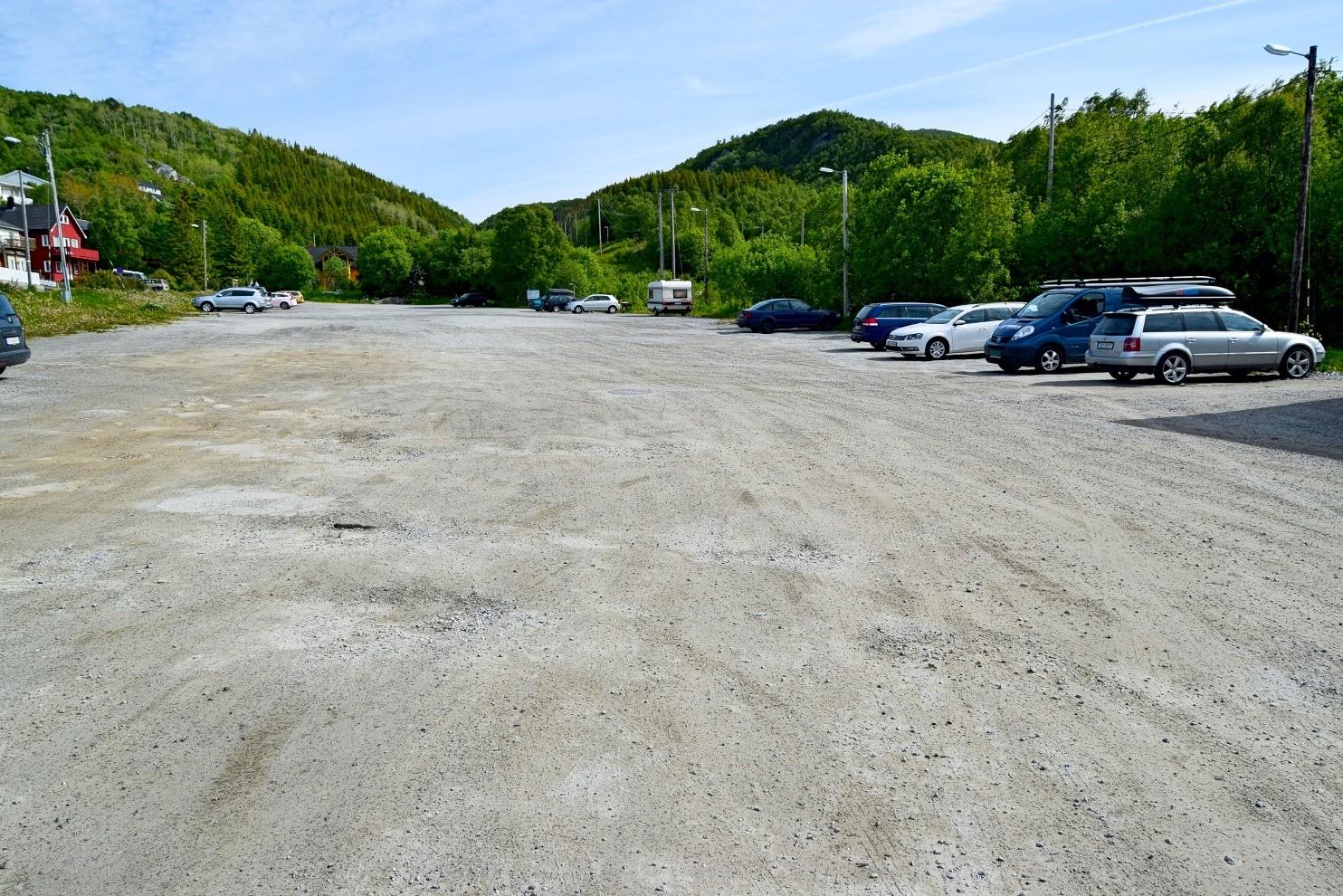 Parkeringsplassen ved Maskinisten