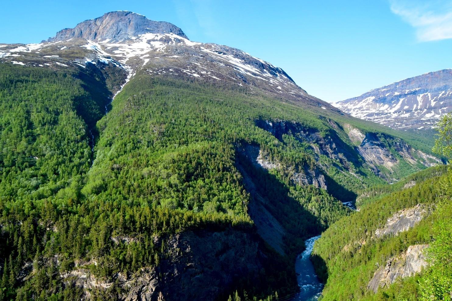 Utsikt utover Junkerdalsura i Saltdal