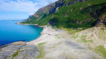 Mjelle strand i Bodø