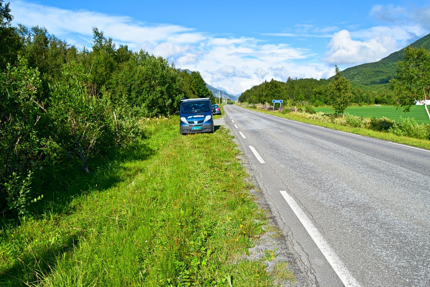 Parkering ovenfor Skjelstad naturreservat i Bodø