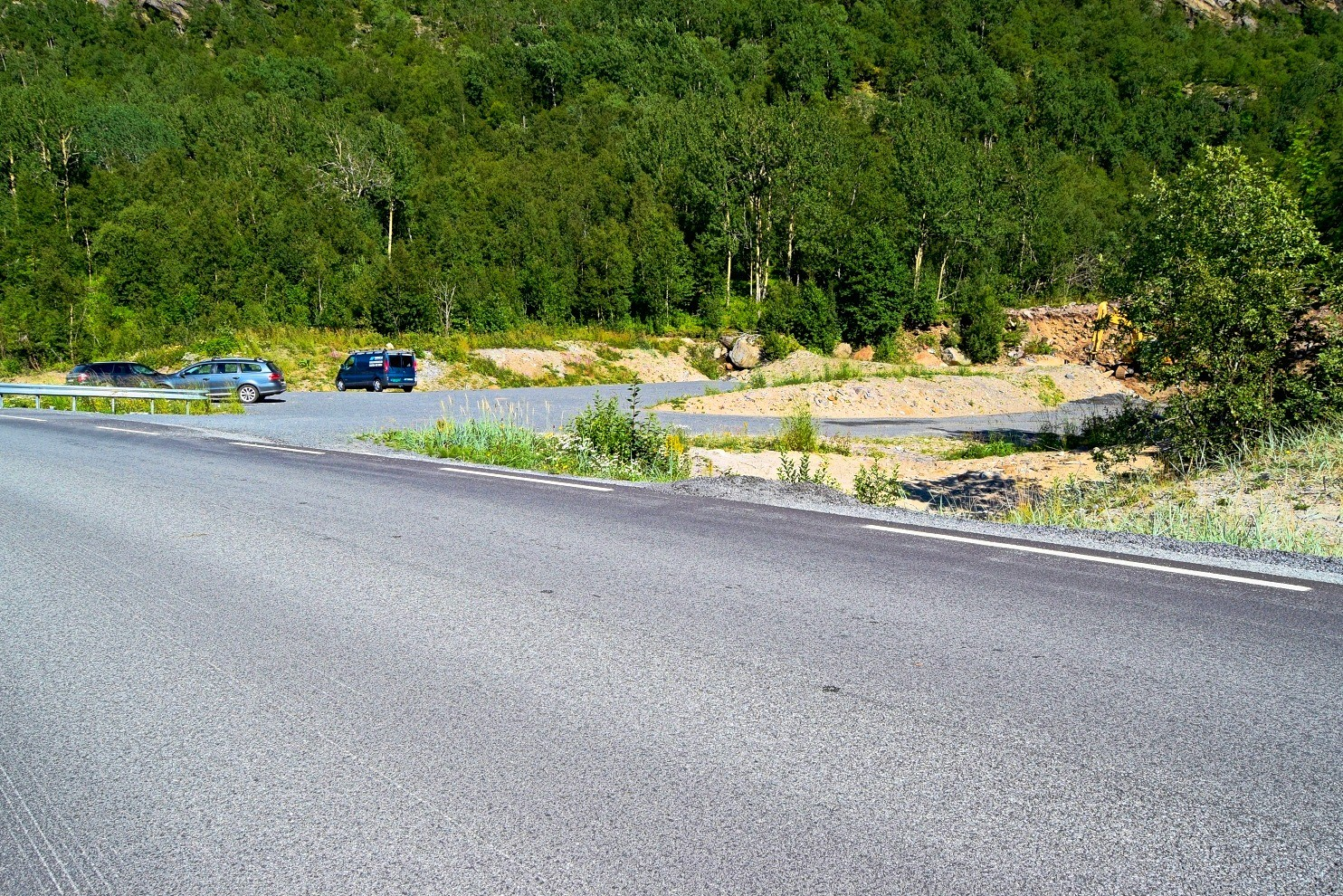 Parkeringsplassen ved Korsviksanden