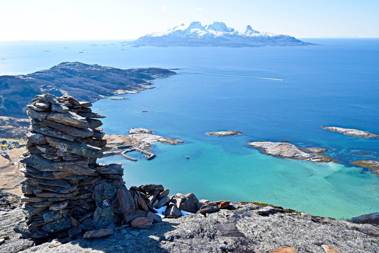 Landegode sett ovenfor Mjelle i Bodø