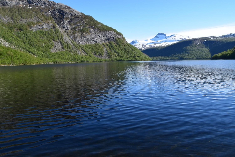 Børvatnet i Bodø en sommerdag