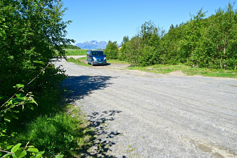 Parkeringsplassen på Skaug i Bodø