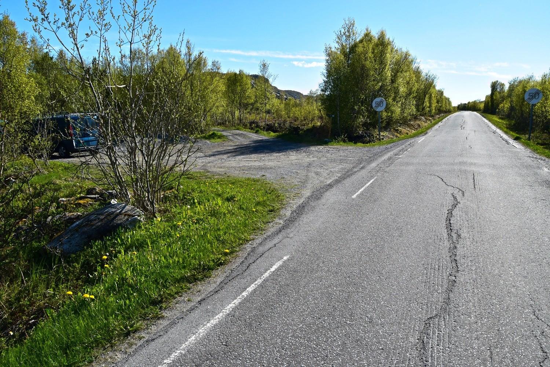 Parkeringsplassen på Straumøya i Bodø