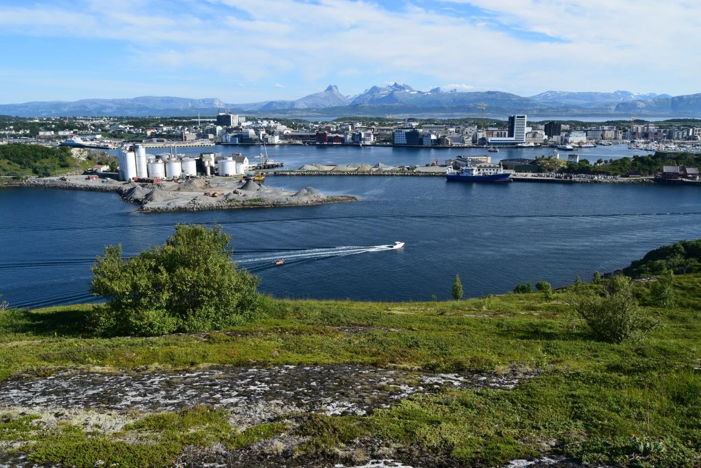 Bodø sett fra Lille Hjertøya