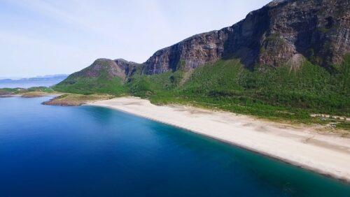 Langsand strand på Sandhornøya