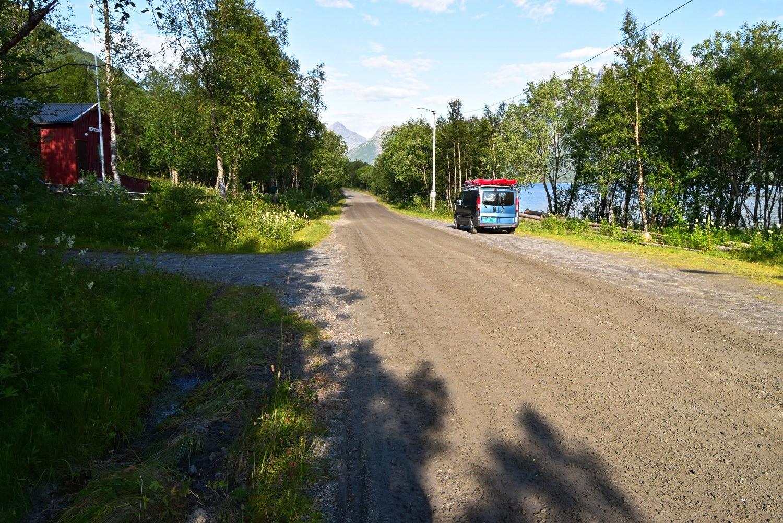 Parkeringsplassen ved Nevelsfjorden