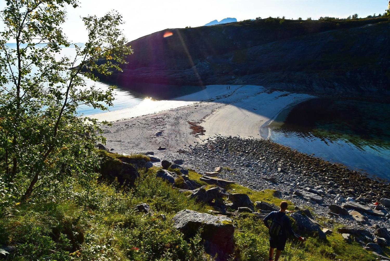 Stranda ved Hovdsundet i Bodø