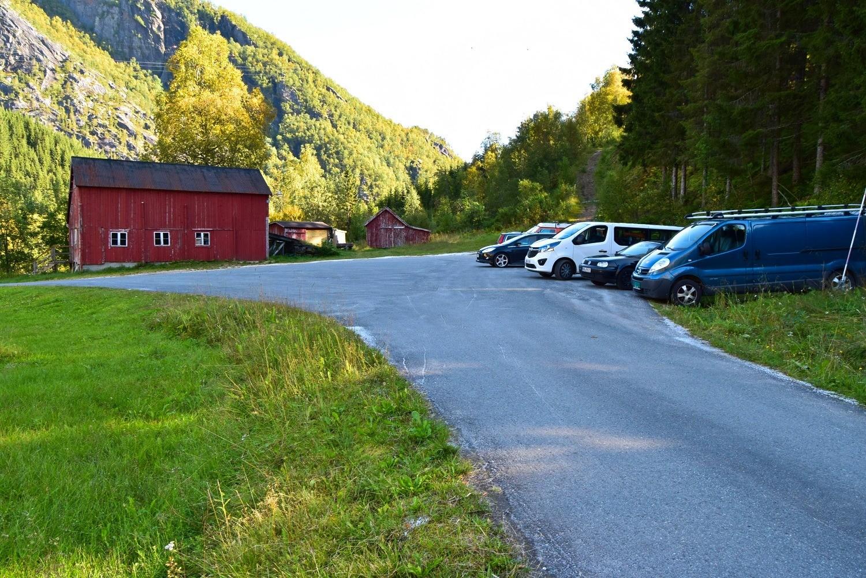 Startpunktet for turen til Storskogvatnet