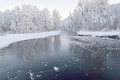Vinterlandskap i Bodø