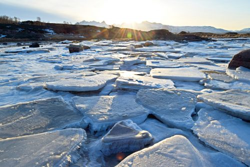 Vinterlandskap fra Tverlandet Naturreservat