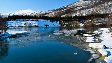 Nordfjordelva i Sørfold en vinterdag