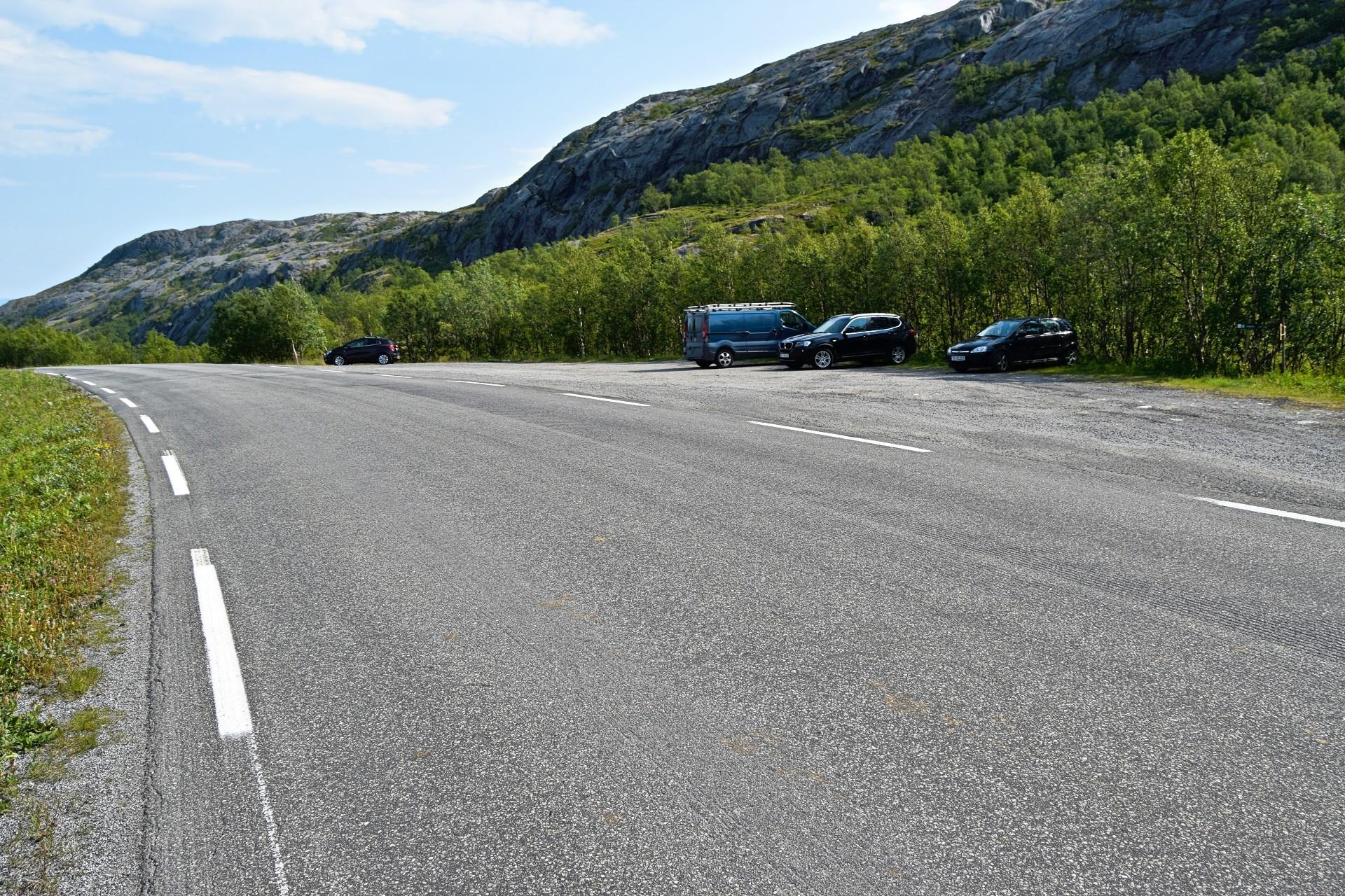 Parkeringsplassen på Kvikstadheia