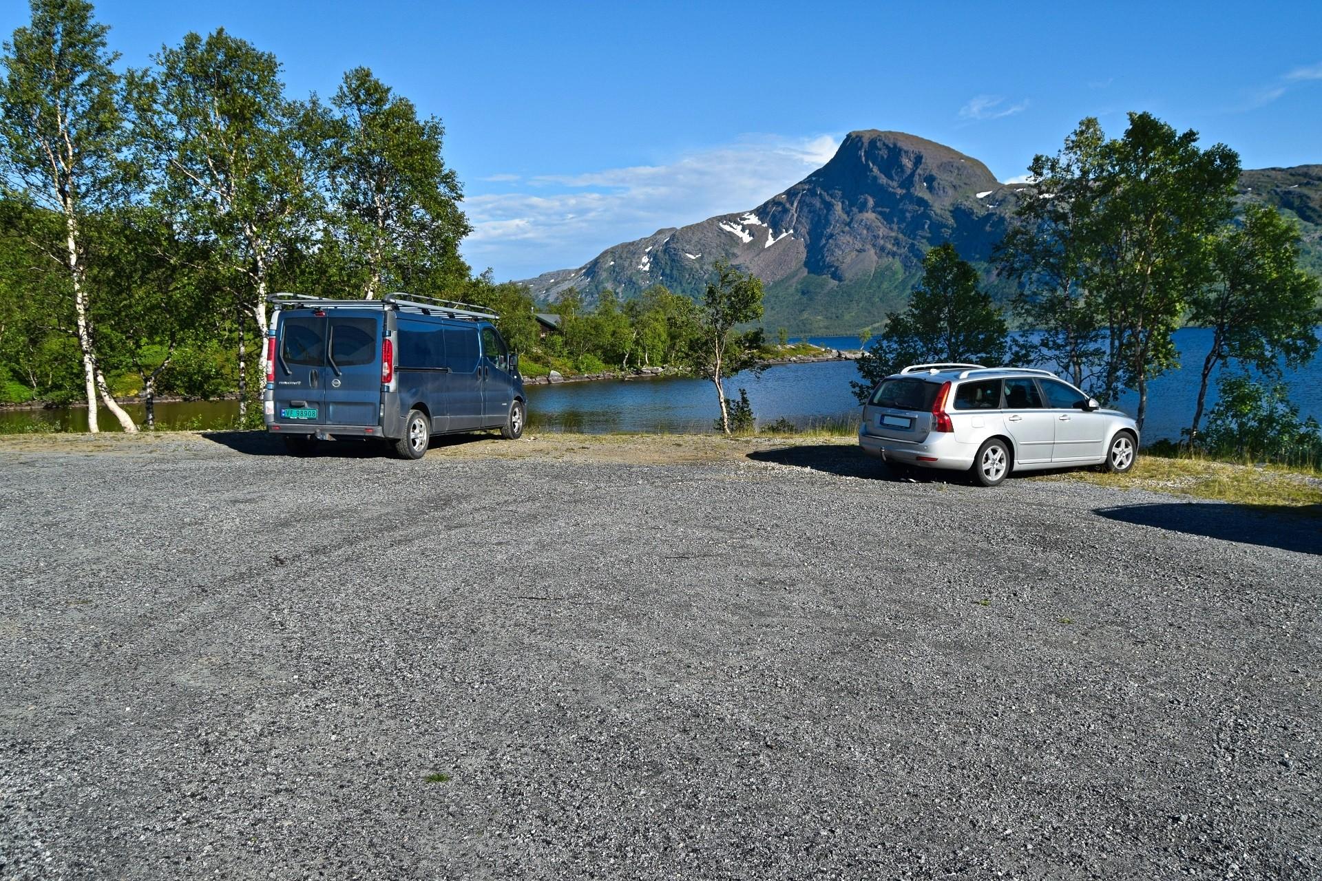 Parkeringsplass Ramskjellvatnet Beiarn