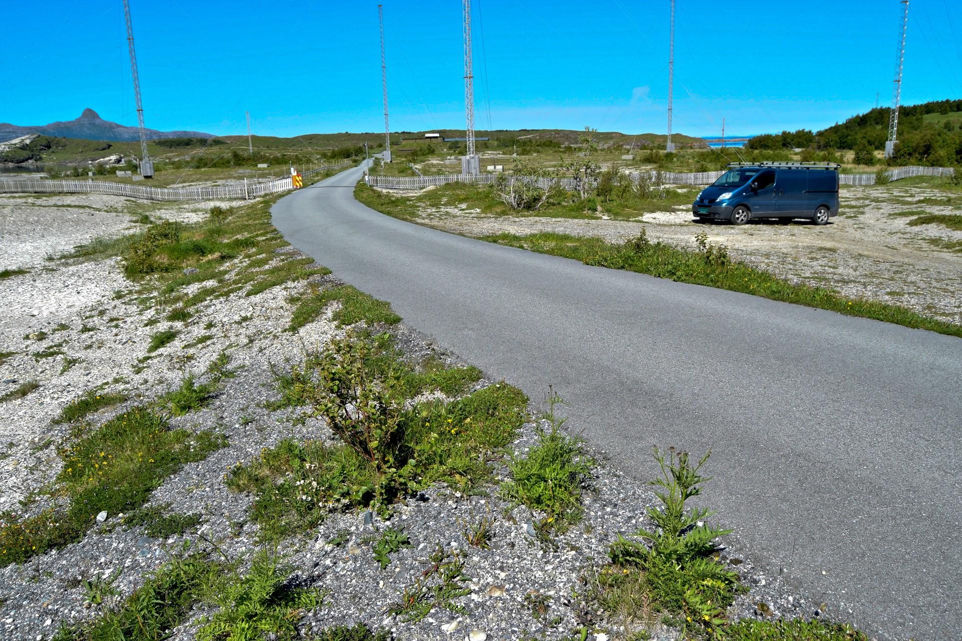 Parkeringsplassen på Skjelstad