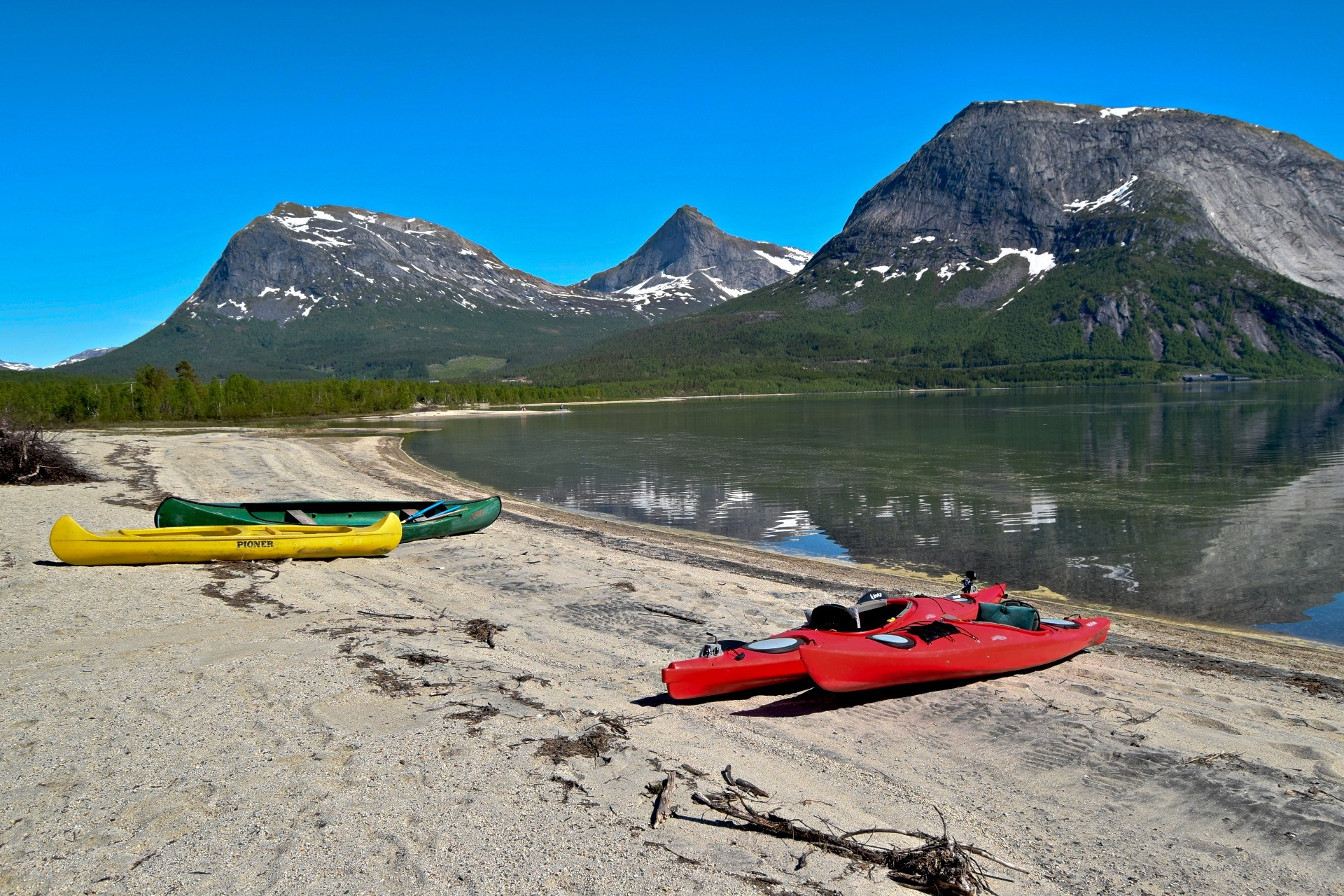Startpunkt for padleturen rundt Kobbvatnet i Sørfold