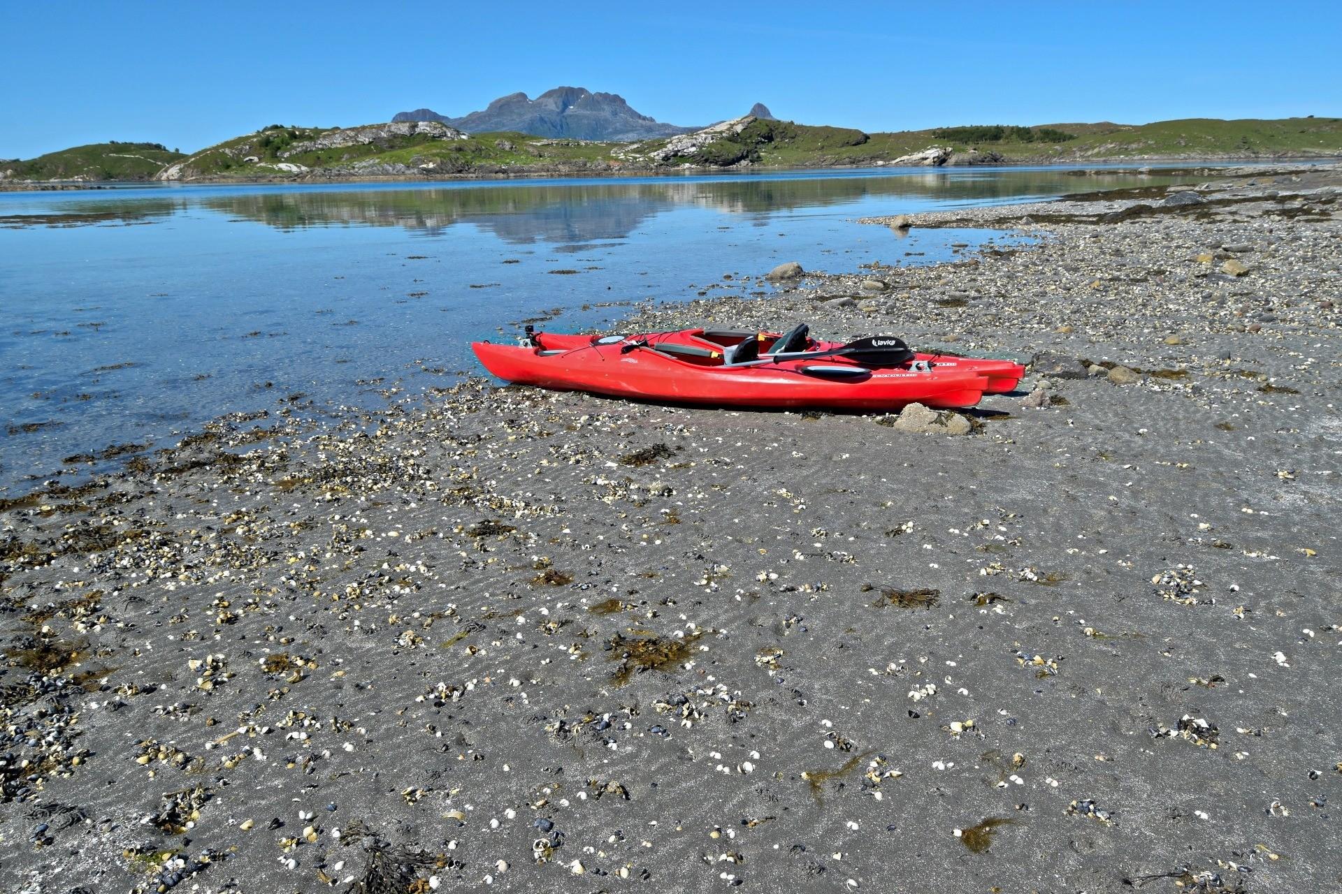 Startpunkt for turen rundt Vågøya