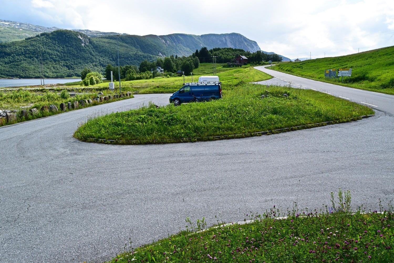 Startpunktet for sykkelturen langs gammelveien