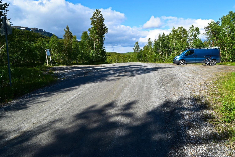 Startpunktet for sykkelturen i Øvre Valnesfjord