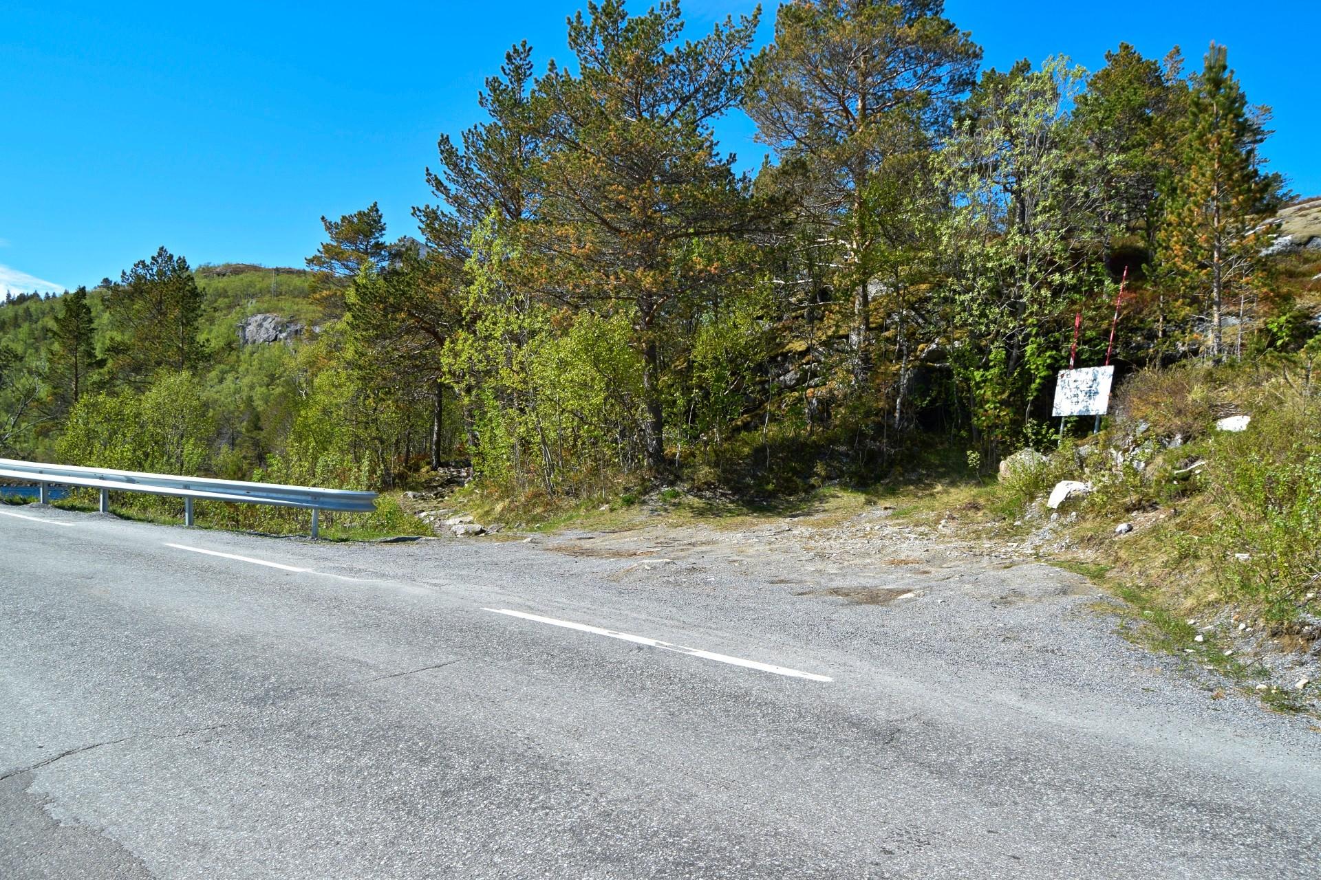 Startpunkt for turen til Steigtindvatnet i Bodø