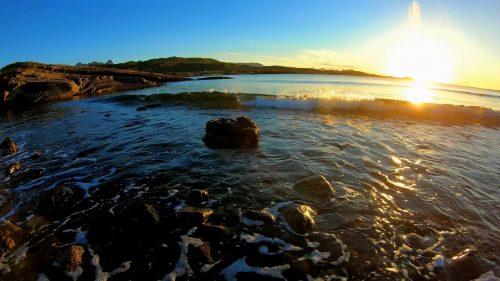 Naturlyder av bølger og måser